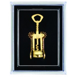 Wings Corkscrew Pin, Gold Plated