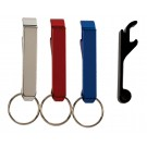 Keyring Aluminum Bottle Opener, Anodized Finish, Silver